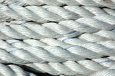 Detail texture of white ropes — Stock Photo