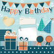 Birthday design elements for scrapbook — Stock Vector #10751189