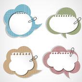винтаж пузыри речи — Cтоковый вектор