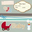 Stock Vector: Baby scrapbook elements