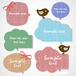 Vintage bubbles for speech - Image vectorielle