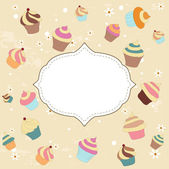 Cupcake card — Stock Vector
