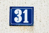 House number 31 — Stock Photo