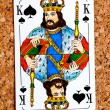 Stock Photo: Playing card king