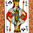 Playing card king — Stock Photo