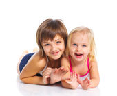 Two young beautiful girls — Stock Photo