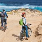 ������, ������: Family having a excursion on their bikes