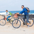 Stock Photo: Family having a excursion on their bikes