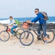 Family having a excursion on their bikes — Stock Photo #10778470