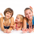 Stock Photo: Three young beautiful girls