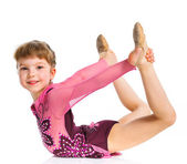 Little gymnast — Stock Photo