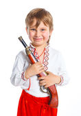 Little boy in Ukrainian national costume — Stock Photo