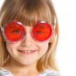 Attractive girl in red glasses — Stock Photo #11137461