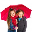 Two Beautiful girls with umbrella — Stock Photo