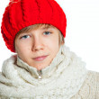 Portrait of young beautiful boy in winter style — Stock Photo #11276809