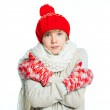 Young frozen teenager in winter style — Stock Photo #11276832