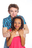 Young man with girlfriend — Stock Photo