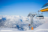 Skiing resort in Austria — Stock Photo