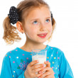 Girl with milk — Stock Photo #11454320