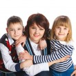 Portrait of happy family - Stock Photo