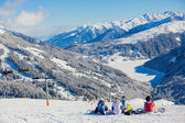 Snowboarders on skiing resort in Austria — Stock Photo