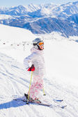 Young girl a ski wear — Stock Photo
