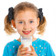 Stock Photo: Girl with milk