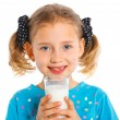 Girl with milk — Stock Photo #11563145