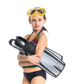 Diver girl — Stock Photo