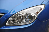 Head Lamp Of Blue Car — Stock Photo
