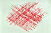 Red ink scratchy background — Stock Photo