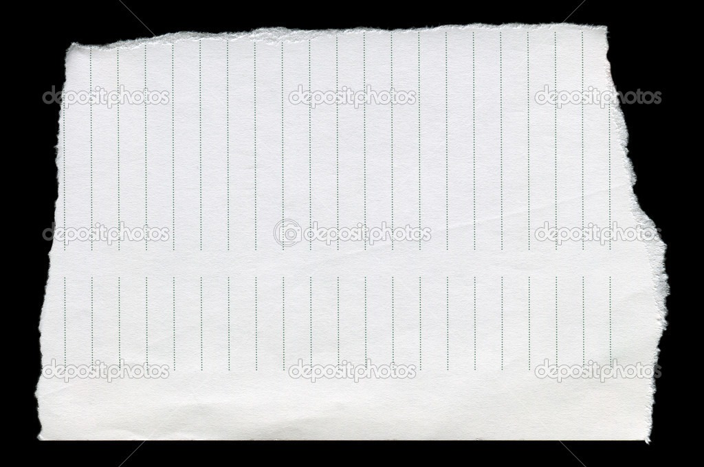 Straight line, clean white torn paper — Stock Photo #10904505