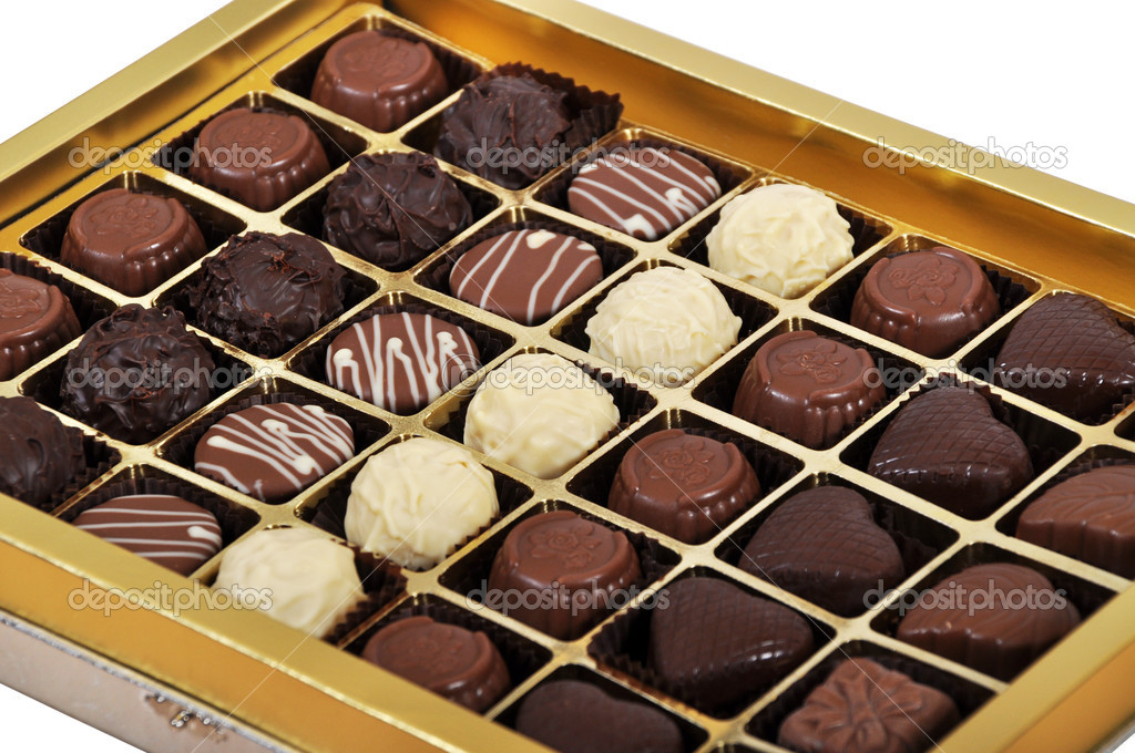 Chocolate candies in a box  — Stock Photo #11031834