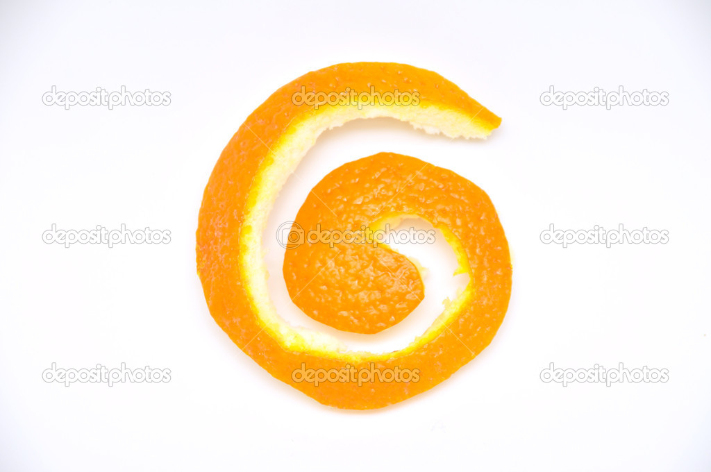 Orange peel isolated on white background — Stock Photo #11031989