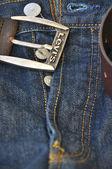 Levis blue jeans — Stock Photo