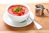 Ukrainian and russian national red soup-borsch — Stockfoto