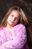 Beautiful girl in pink — Stock Photo