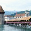 Chapel Bridge in Lucerne, Switzerland — Stock Photo #11539668