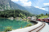 The Bernina Railway in the Canton of Grisons — Stock Photo