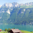 The Walensee in the canton of Grisons, Switzerland — Stock Photo