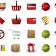 Shopping icons — Stock Vector #11148395