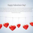 Valentine day card - Vector background with hearts — Stock Vector