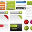 Web Design buttons and forms - Imagens vectoriais em stock