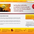 Royalty-Free Stock Vektorgrafik: Webpage template with halloween theme