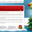Stock Vector: Christmas theme Website template