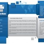 Webdesign template — Stock Vector