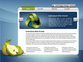 Webdesign template - Healthy life — Stock Vector