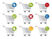Shopping icons for e-commerce, webshop and other webpages — Stock Vector