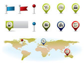 Gps map elements — Stockvector