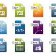 File extension icons - Image vectorielle